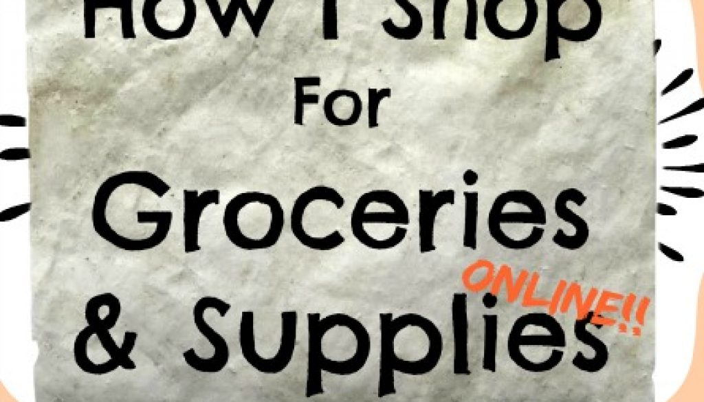 How I Shop For Groceries and Supplies Online